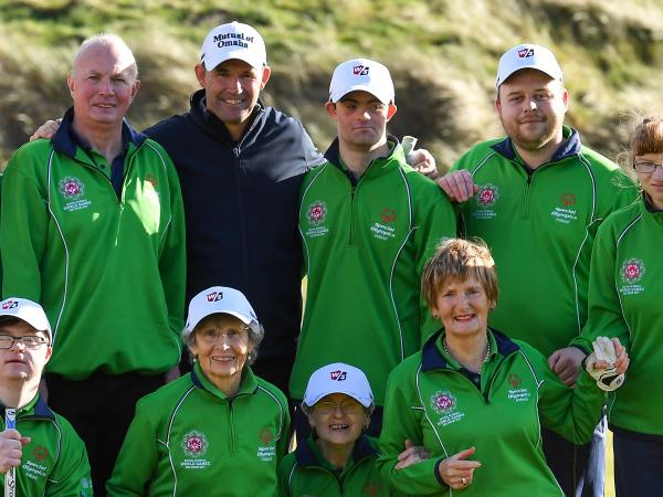 Padraig Harrigtn meets Team Ireland golfers in the lead up to the 2019 World Summer Games