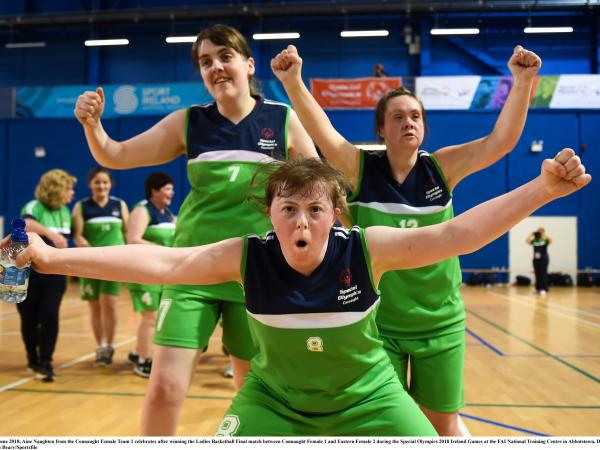 Members of Special Olympics Connaught female basketball team at the Ireland Summer Games