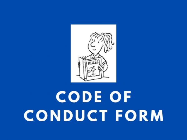 Code Of Conduct Form