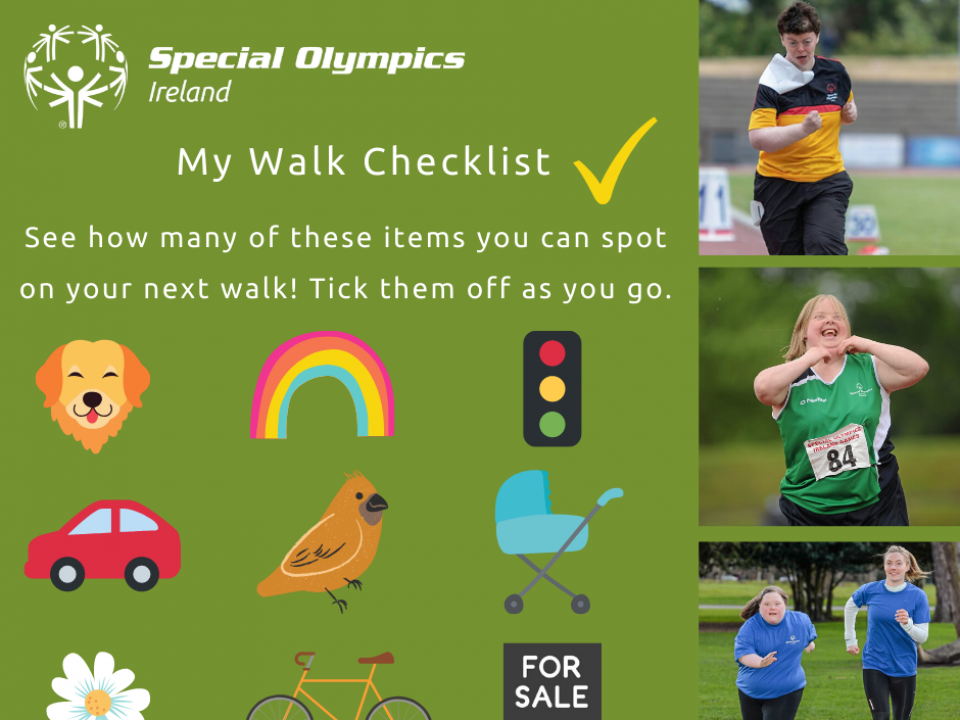 Walking checklist